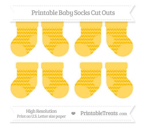 Free Amber Herringbone Pattern Small Baby Socks Cut Outs
