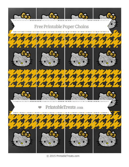 Free Amber Houndstooth Pattern Chalk Style Hello Kitty Paper Chains