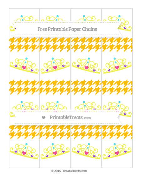 Free Amber Houndstooth Pattern Princess Tiara Paper Chains