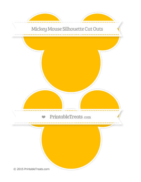 Free Amber Large Mickey Mouse Silhouette Cut Outs