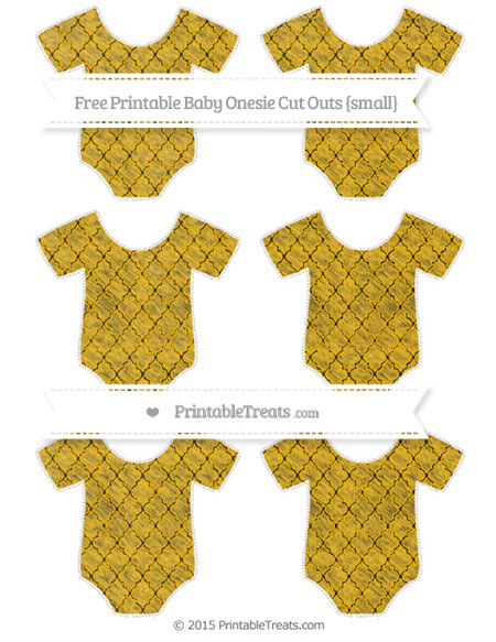 Free Amber Moroccan Tile Chalk Style Small Baby Onesie Cut Outs