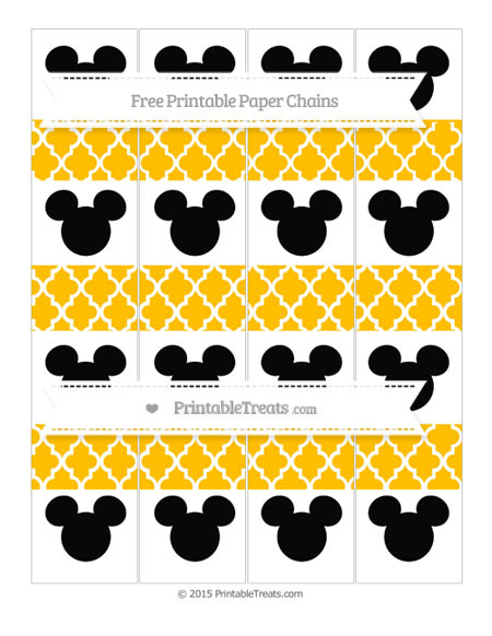 Free Amber Moroccan Tile Mickey Mouse Paper Chains