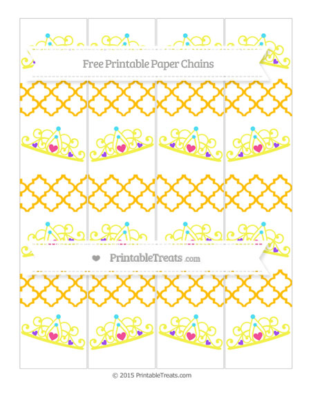 Free Amber Moroccan Tile Princess Tiara Paper Chains