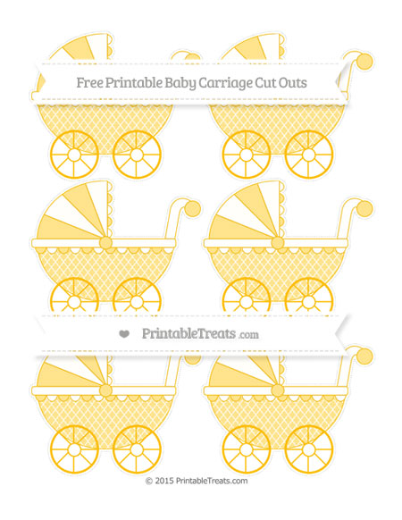 Free Amber Moroccan Tile Small Baby Carriage Cut Outs