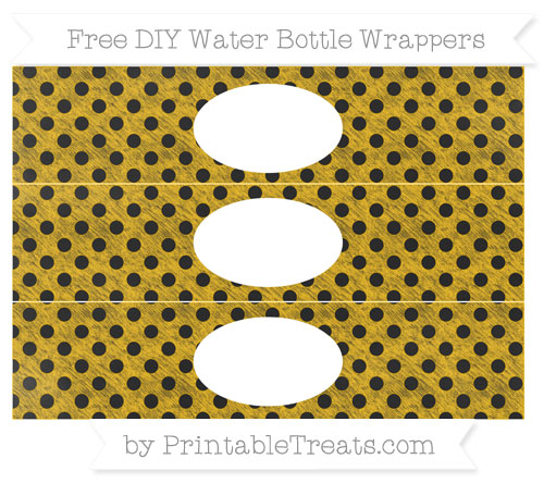 Free Amber Polka Dot Chalk Style DIY Water Bottle Wrappers