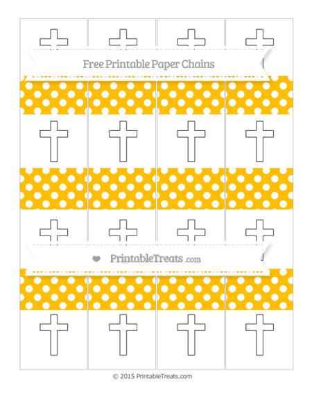 Free Amber Polka Dot Cross Paper Chains