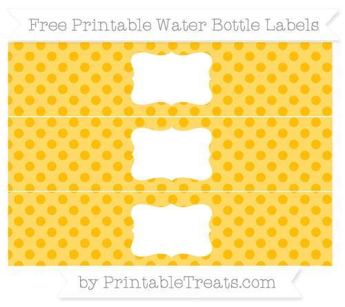 Free Amber Polka Dot Water Bottle Labels