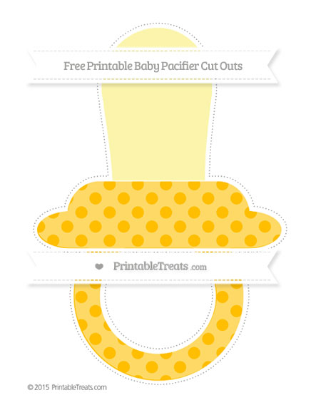 Free Amber Polka Dot Extra Large Baby Pacifier Cut Outs
