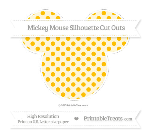 Free Amber Polka Dot Extra Large Mickey Mouse Silhouette Cut Outs