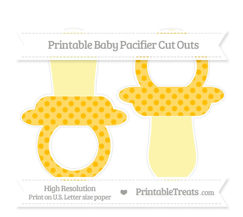 Free Amber Polka Dot Large Baby Pacifier Cut Outs