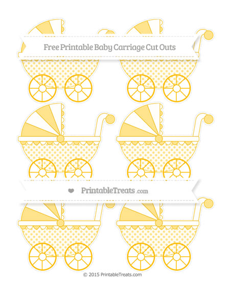 Free Amber Polka Dot Small Baby Carriage Cut Outs