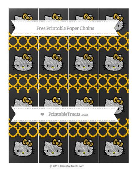 Free Amber Quatrefoil Pattern Chalk Style Hello Kitty Paper Chains