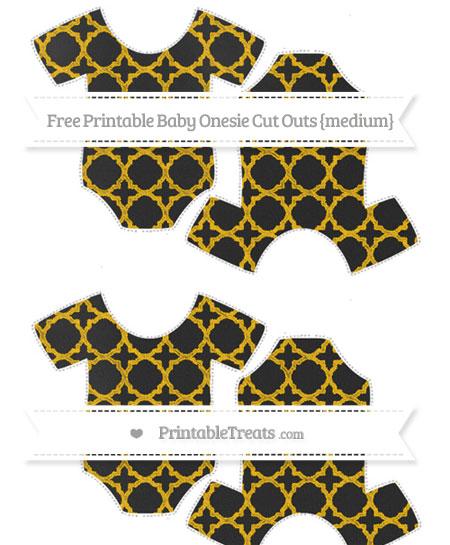 Free Amber Quatrefoil Pattern Chalk Style Medium Baby Onesie Cut Outs
