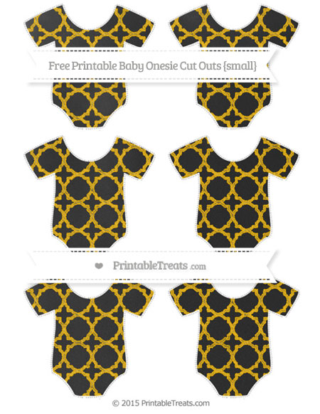 Free Amber Quatrefoil Pattern Chalk Style Small Baby Onesie Cut Outs