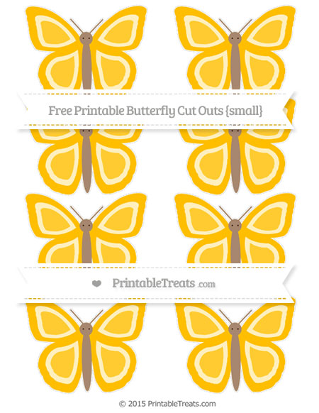 Free Amber Small Butterfly Cut Outs