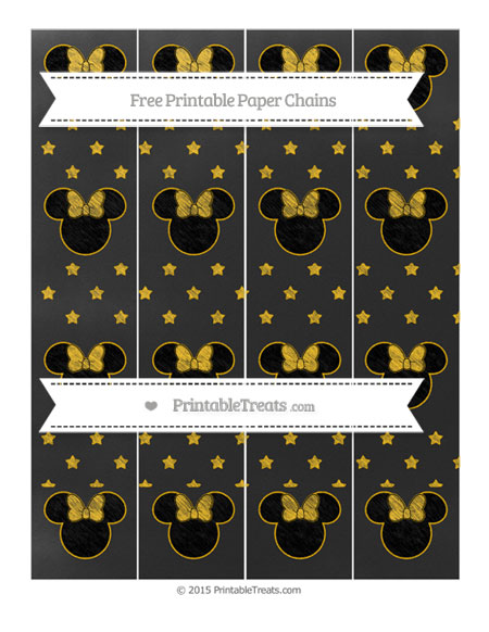 Free Amber Star Pattern Chalk Style Minnie Mouse Paper Chains