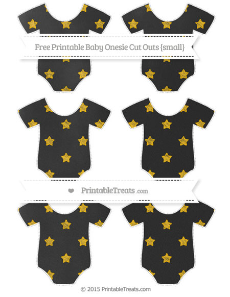 Free Amber Star Pattern Chalk Style Small Baby Onesie Cut Outs