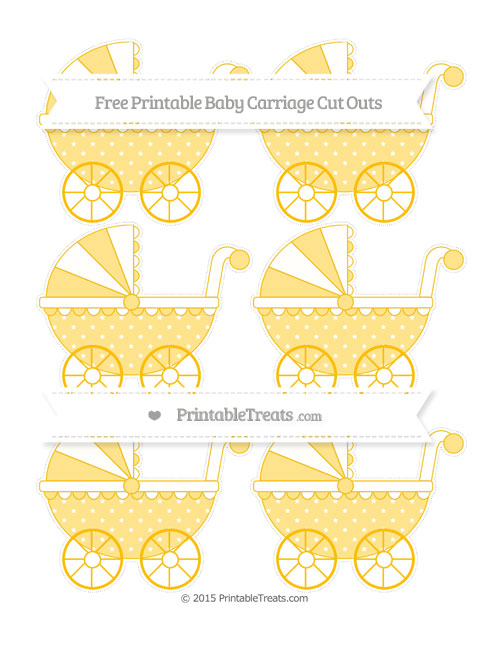 Free Amber Star Pattern Small Baby Carriage Cut Outs