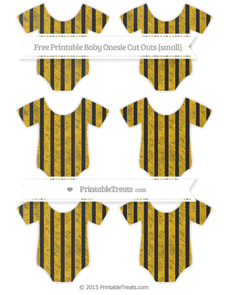 Free Amber Striped Chalk Style Small Baby Onesie Cut Outs