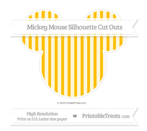 Free Amber Striped Extra Large Mickey Mouse Silhouette Cut Outs