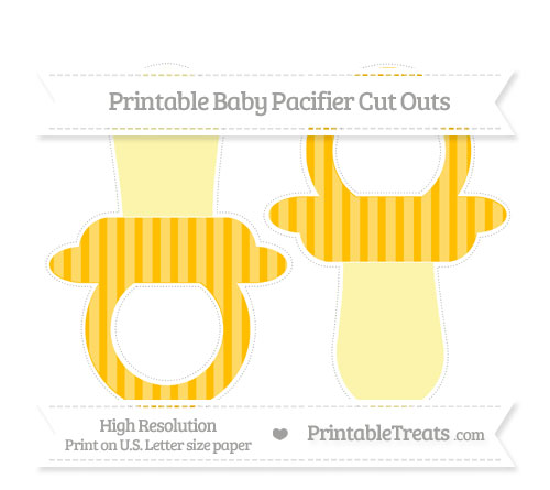 Free Amber Striped Large Baby Pacifier Cut Outs