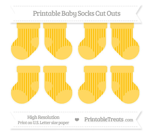 Free Amber Striped Small Baby Socks Cut Outs