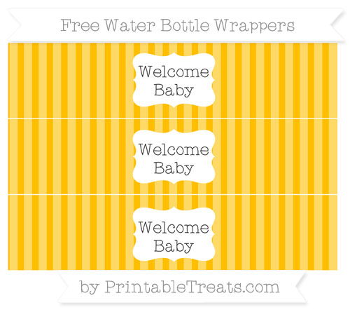 Free Amber Striped Welcome Baby Water Bottle Wrappers