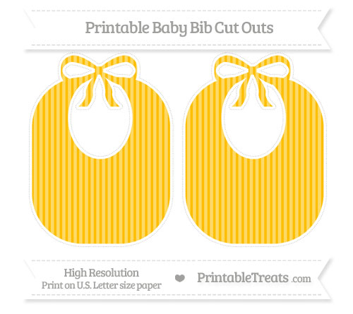 Free Amber Thin Striped Pattern Large Baby Bib Cut Outs