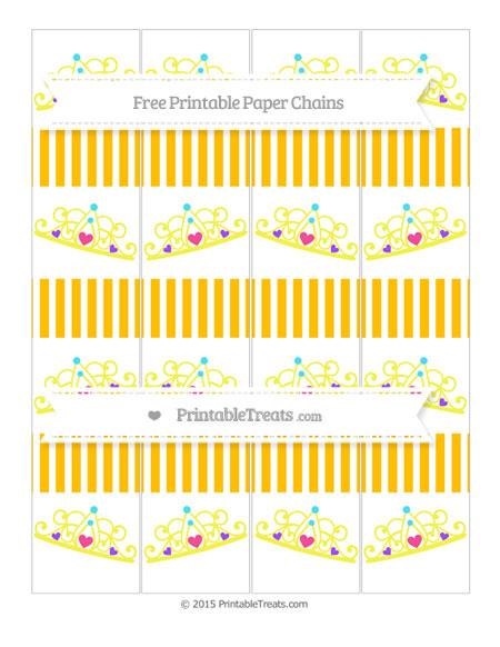 Free Amber Thin Striped Pattern Princess Tiara Paper Chains