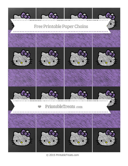 Free Amethyst Chalk Style Hello Kitty Paper Chains