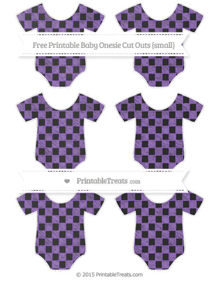 Free Amethyst Checker Pattern Chalk Style Small Baby Onesie Cut Outs