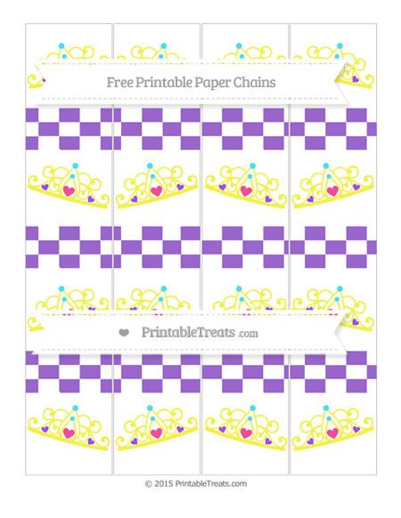 Free Amethyst Checker Pattern Princess Tiara Paper Chains