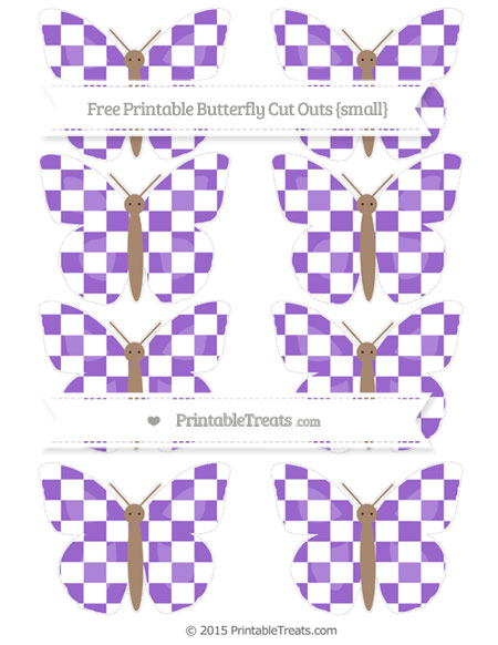 Free Amethyst Checker Pattern Small Butterfly Cut Outs