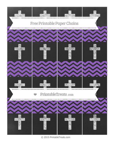 Free Amethyst Chevron Chalk Style Cross Paper Chains