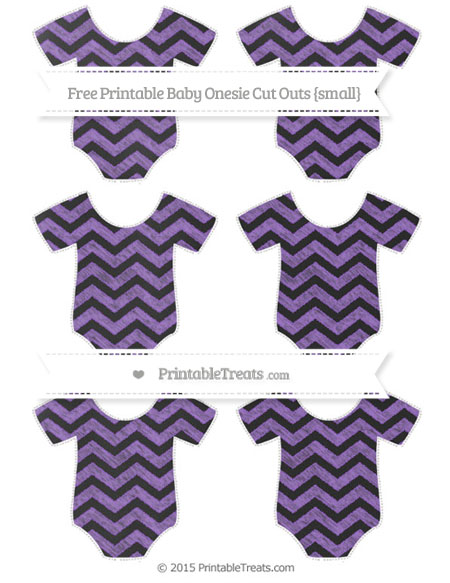Free Amethyst Chevron Chalk Style Small Baby Onesie Cut Outs