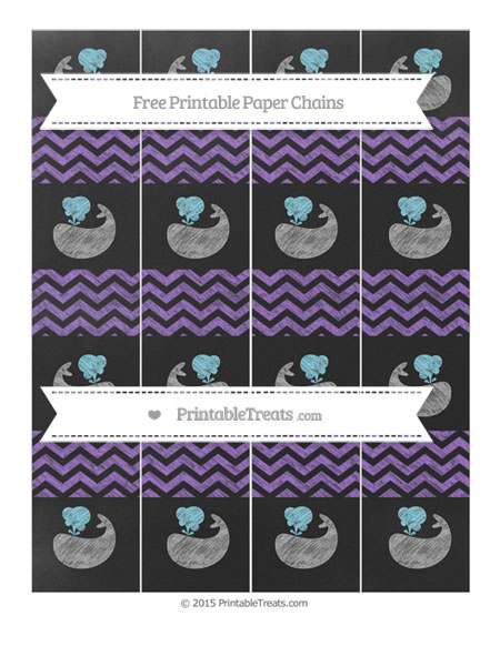 Free Amethyst Chevron Chalk Style Whale Paper Chains