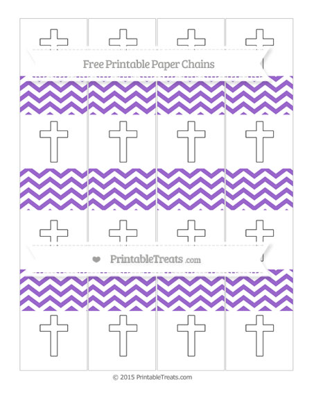 Free Amethyst Chevron Cross Paper Chains
