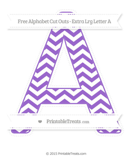 Free Amethyst Chevron Extra Large Capital Letter A Cut Outs