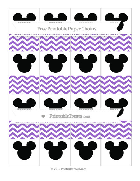 Free Amethyst Chevron Mickey Mouse Paper Chains