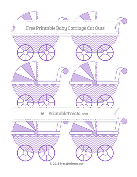 Free Amethyst Chevron Small Baby Carriage Cut Outs