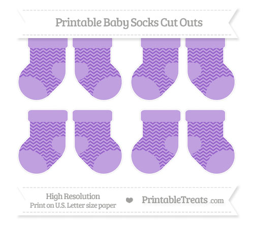 Free Amethyst Chevron Small Baby Socks Cut Outs