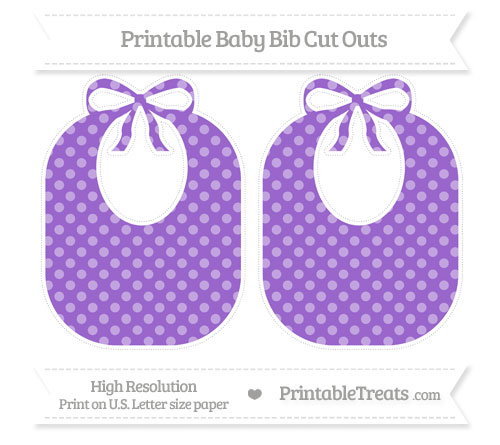 Free Amethyst Dotted Pattern Large Baby Bib Cut Outs