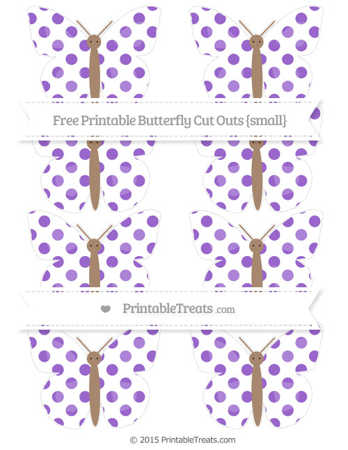 Free Amethyst Dotted Pattern Small Butterfly Cut Outs