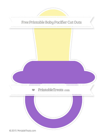 Free Amethyst Extra Large Baby Pacifier Cut Outs
