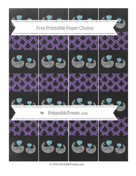 Free Amethyst Fish Scale Pattern Chalk Style Baby Whale Paper Chains