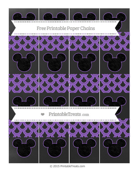 Free Amethyst Fish Scale Pattern Chalk Style Mickey Mouse Paper Chains