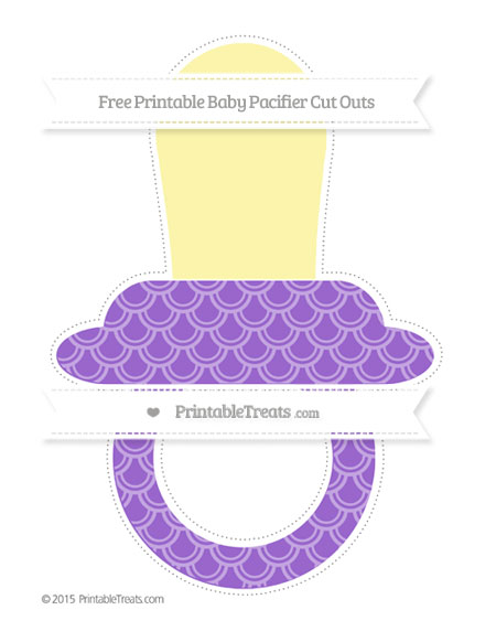 Free Amethyst Fish Scale Pattern Extra Large Baby Pacifier Cut Outs