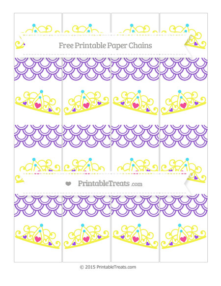 Free Amethyst Fish Scale Pattern Princess Tiara Paper Chains