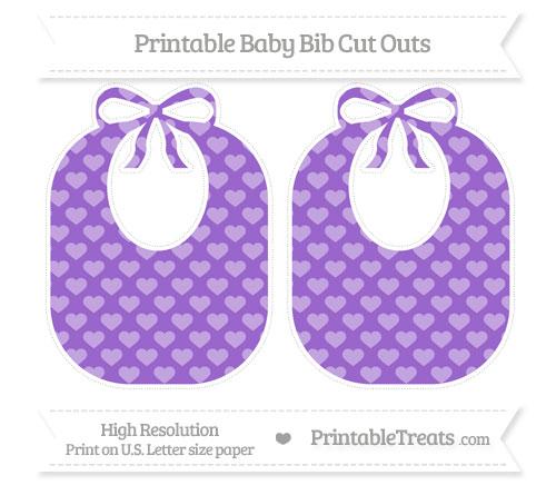 Free Amethyst Heart Pattern Large Baby Bib Cut Outs
