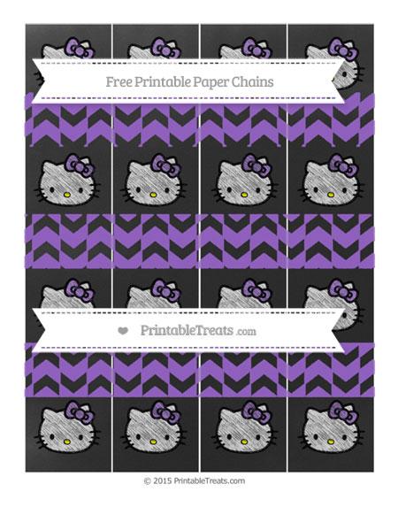 Free Amethyst Herringbone Pattern Chalk Style Hello Kitty Paper Chains